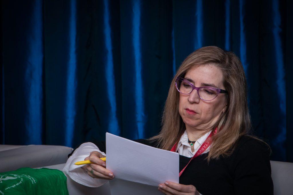 Ingrid Beck en el Simposio Científico de Fundación Huésped 2019